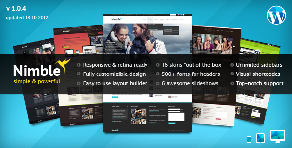 Nimble Multipurpose Retina Ready WordPress Theme