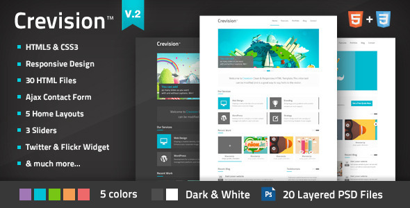 ThemeForest Crevision Responsive HTML Template 3083469