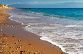 Long and inviting sandy beach in the Mediterranean - PhotoDune Item for Sale
