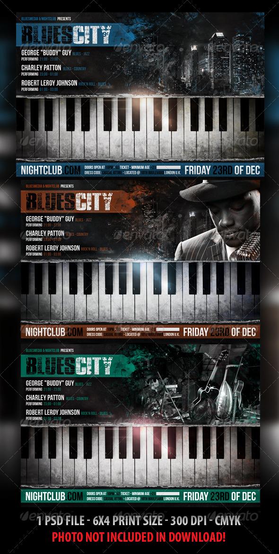 GraphicRiver Blues Jazz Concert Flyer 3210816