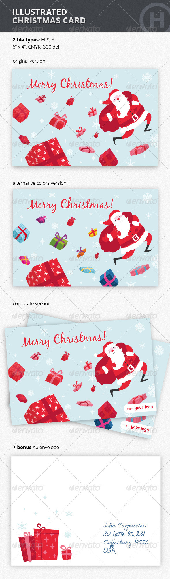 Illustrated Christmas Card - Holiday Greeting Cards