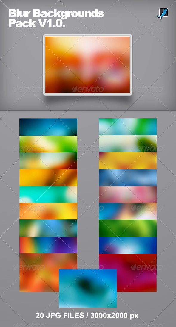 Blur Backgrounds Pack V1.0. - Abstract Backgrounds