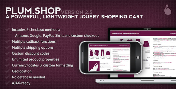 plum.Shop - A jQuery Shopping Cart - CodeCanyon Item for Sale
