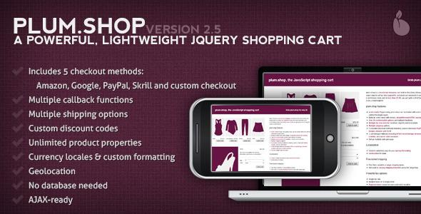 CodeCanyon plum.Shop A jQuery Shopping Cart 427746
