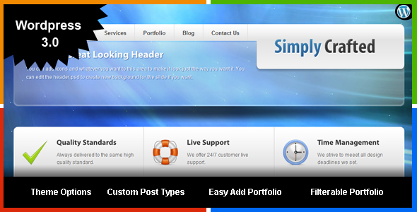 ThemeForest Simply Crafted Wordpress 3.0 113127