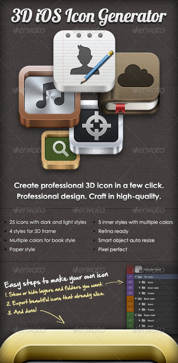 3D iOS Icon Generator - Software Icons