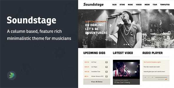 ThemeForest Soundstage PSD Musician Template 3212699