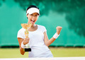 Pretty tennis player won the competition - PhotoDune Item for Sale