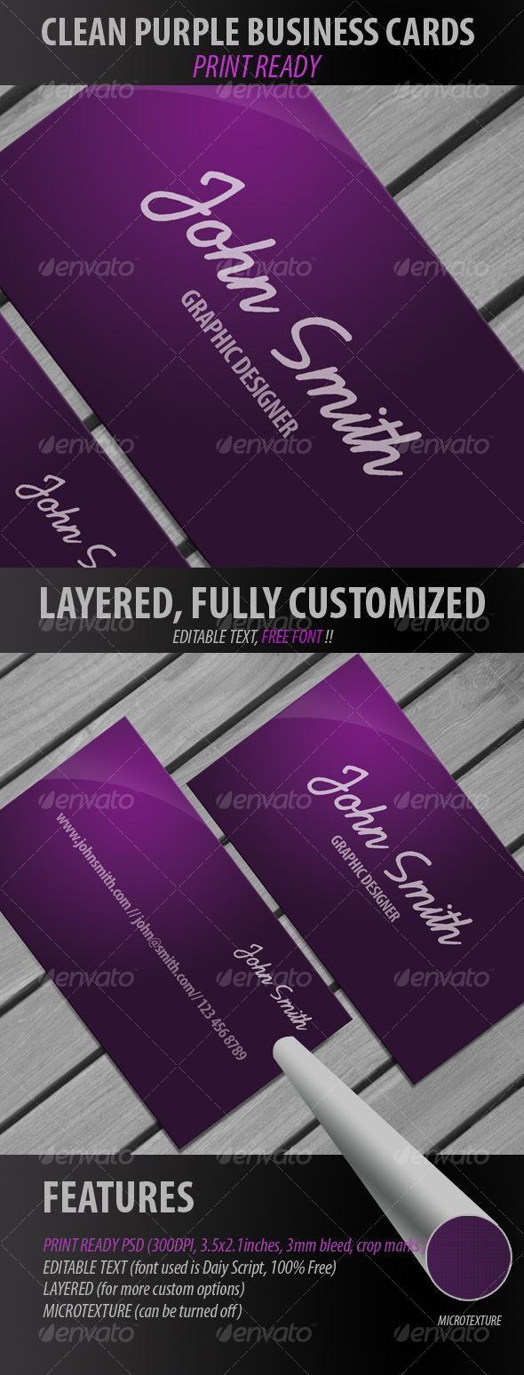 Modern Purple Business Card - Retro/Vintage Business Cards