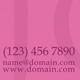 Pink Business Card - GraphicRiver Item for Sale