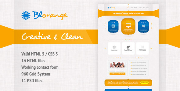 Blorange Multipurpose Creative Site Template - Creative Site Templates