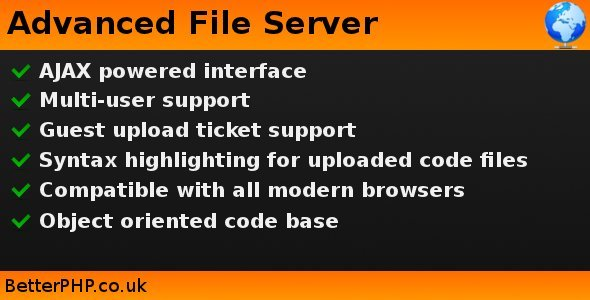 Advanced File Server - CodeCanyon Item for Sale