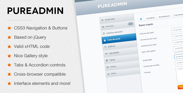 ThemeForest Pure Admin Modern & Clean Admin Template 3217824