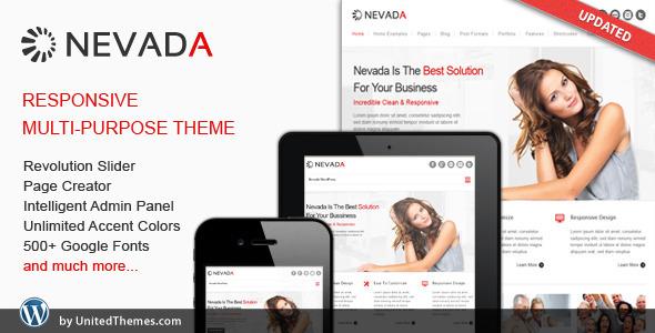 Nevada - Theme / Tema / Plantilla Responsive y Multiusos para WordPress