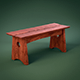 Stylish Contemporary Wooden Bench - 3DOcean Item for Sale