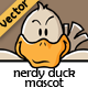 Nerdy Duck Mascot - GraphicRiver Item for Sale