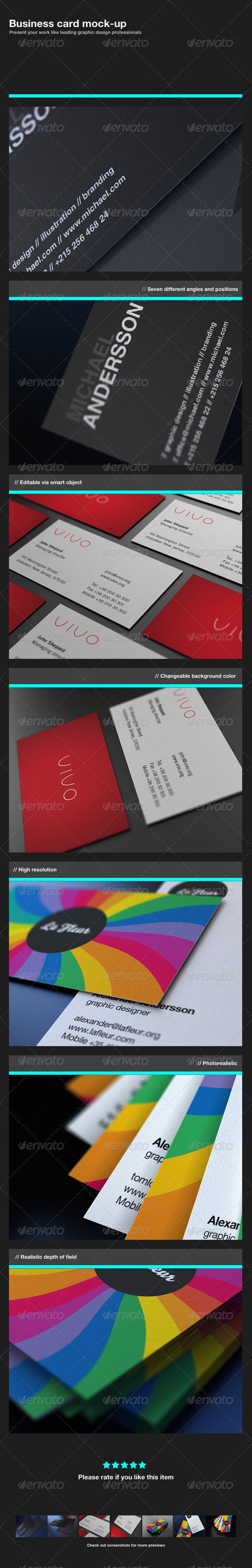 GraphicRiver Business Card Mock-Up 319932