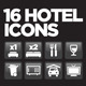 16 Hotel Icons Set - GraphicRiver Item for Sale