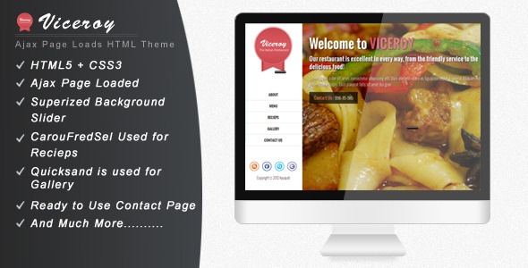 Viceroy - Jquery Single page website Template
