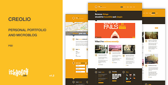 ThemeForest Creolio Personal portfolio and microblog 3020400