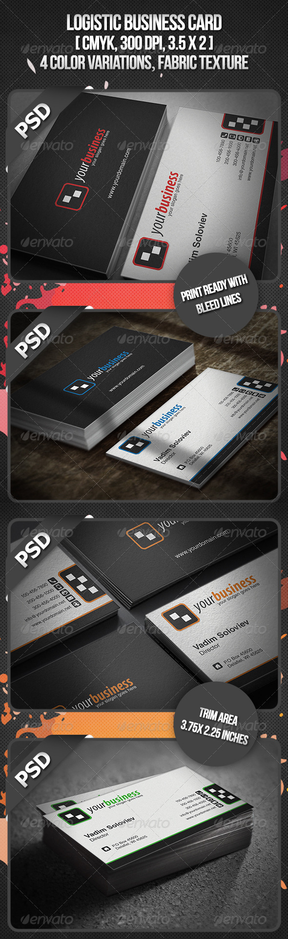 Logistic Business Card - Corporate Business Cards