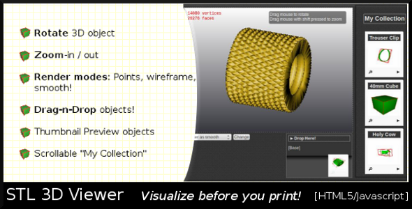 CodeCanyon STL3D Viewer 3222913