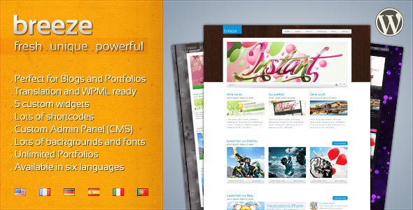 ThemeForest Breeze Professional Corporate and Portfolio WP 118824