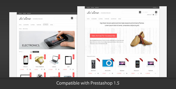 ThemeForest LA Store Clean and Modern Prestashop Theme 3223370