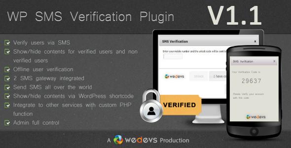 CodeCanyon WP SMS Verification 2822913