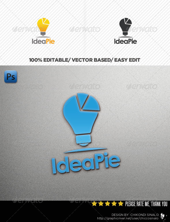 Idea Pie Logo Template - Abstract Logo Templates