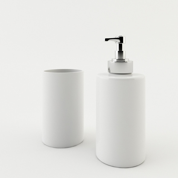 3DOcean Bathroom Soap Dispenser and Mug 3225918