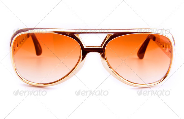 Brown sunglasses - Stock Photo - Images