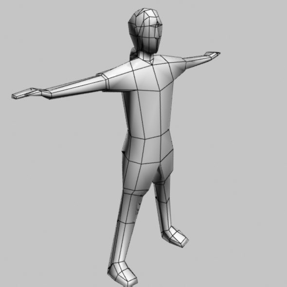 3DOcean Low Poly People Man Base Object include Bone and R 3226687