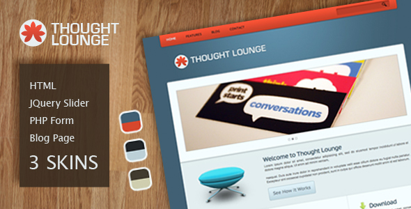 Thought Lounge HTML Template - Corporate Site Templates
