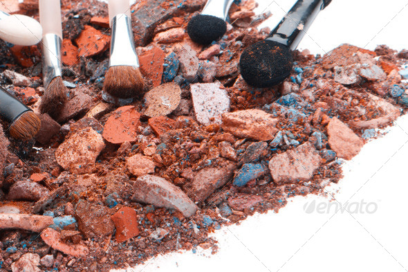 crushed eyeshadows - Stock Photo - Images