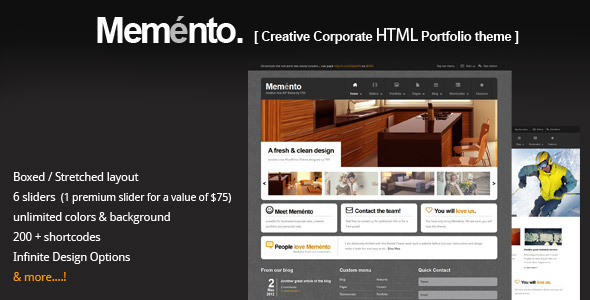 ThemeForest Memento Flexible HTML Theme 3228056