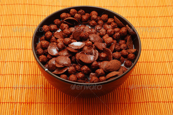 milk and cereals - Stock Photo - Images