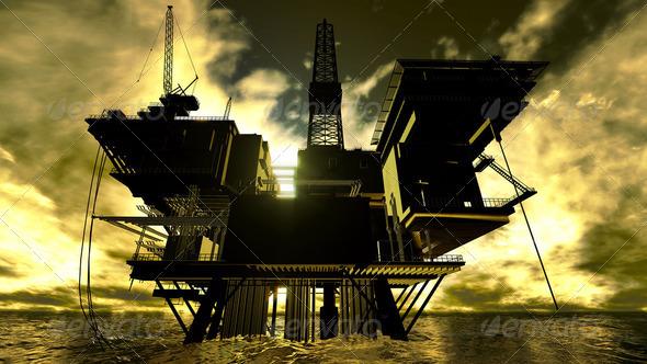 PhotoDune Oil rig 2023914