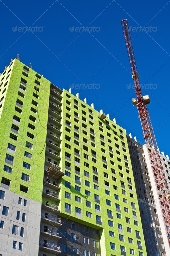 construction of a house - Stock Photo - Images