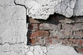Cracked wall with bricks underneath - PhotoDune Item for Sale
