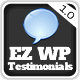 EZ WordPress Testimonials - CodeCanyon Item for Sale