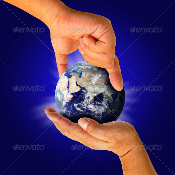 Earth in hand - Stock Photo - Images