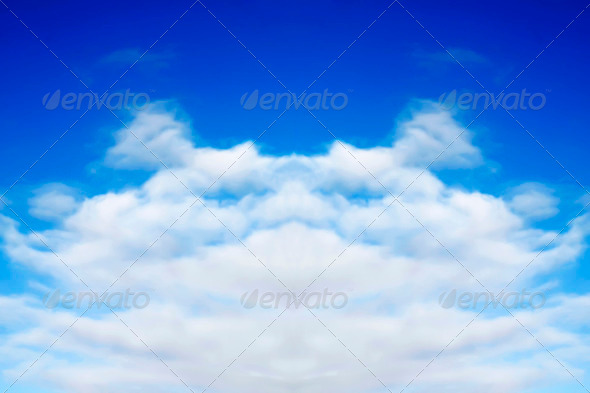 Cloud face - Stock Photo - Images