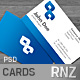 Blue Business Cards 4 VERSI-Graphicriver中文最全的素材分享平台
