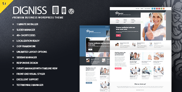 ThemeForest Digniss WordPress Responsive Business Theme 3044933