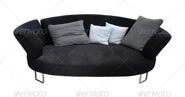 Oval sofa - Stock Photo - Images