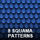 8 Seamless Squama Patterns - GraphicRiver Item for Sale