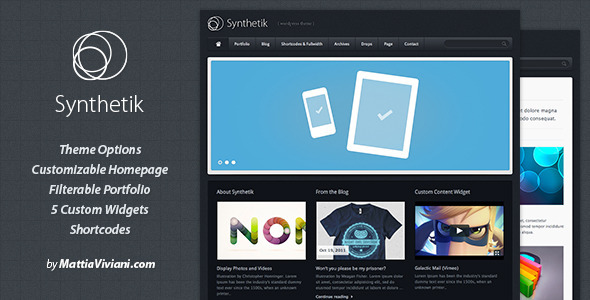 ThemeForest Synthetik Wordpress Theme 98244