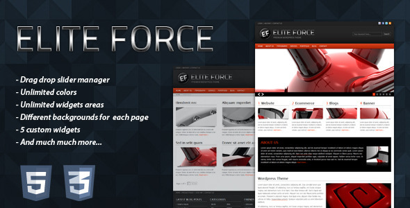 ThemeForest ELITE FORCE Premium Wordpress Theme 84456