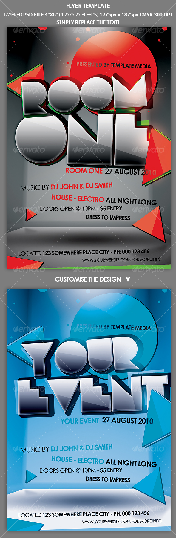 Flyer Template - Clubs &amp; Parties Events